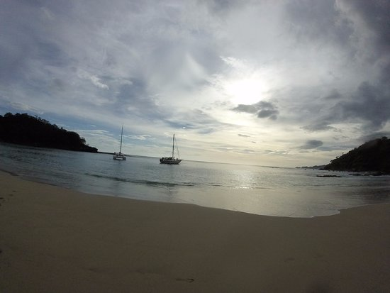 Nica Sail and Surf: Our cove for the day