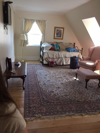 The Salem Inn: This shows the living room and trundle bed.