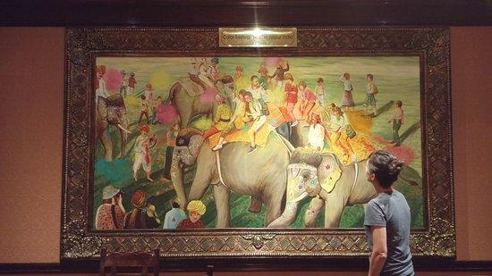 Ambiance of India: L'une des œuvres représentant la traditionnelle fête de la couleur