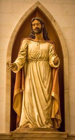 Sts. Anne & Joachim Catholic Church: Front Jesus Statue