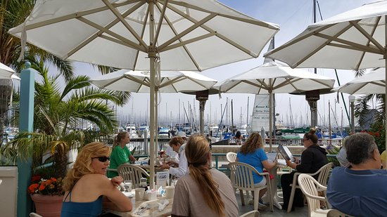 Breakwater Restaurant Patio Seating Dog Friendly With Sb Harbor Views