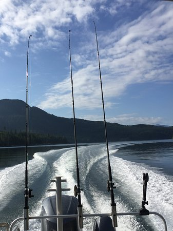 Blind Channel, Canadá: Fishing from boat