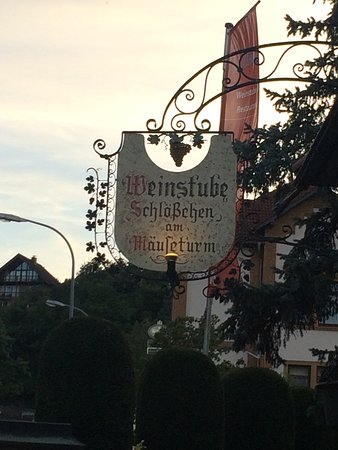 Bingen am Rhein, Germania: Weinstube Schlößchen am Mäuseturm