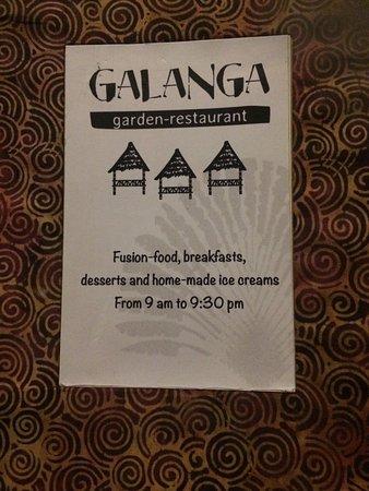 Galanga Menu Picture Of Galanga Amed Tripadvisor