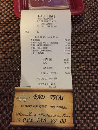 Pad Thai Note Et Carte De Visite