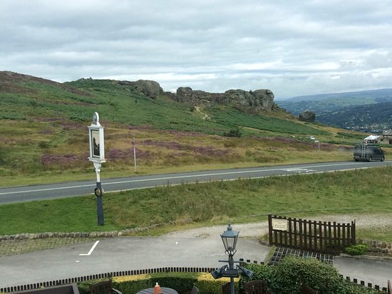 Innkeeper's Lodge Ilkley : View from room 3 across to the moor