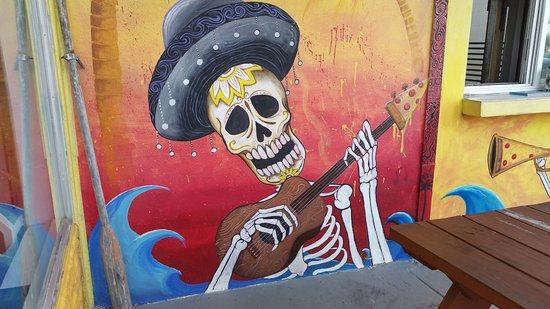 Bones Pizza Shack: Part of the mural
