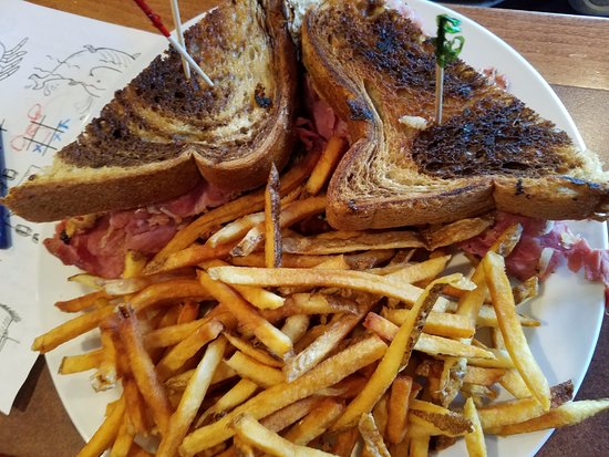 Galena, OH: Reuben with fries.