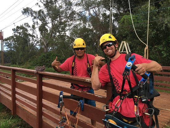 Makawao, HI: Fun staff at Piiholo Zipline Adventure!