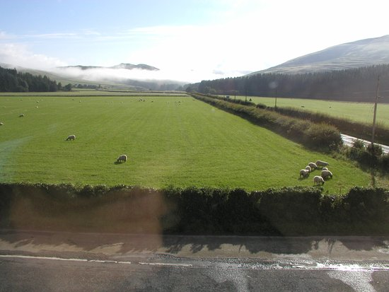 Selkirk, UK: a view from Rm 2 looking down the Yarrow valley