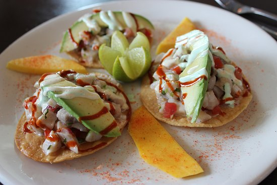 Crystal Beach, TX: cevice tostados