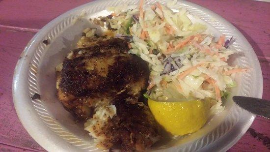 Port Richey, Φλόριντα: Blackened grouper