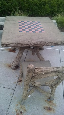 Rochester, MI : Checkers table in the park