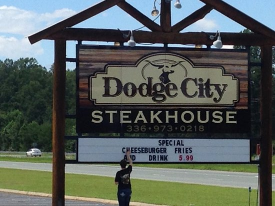 Wilkesboro, North Carolina: sign out front says it all
