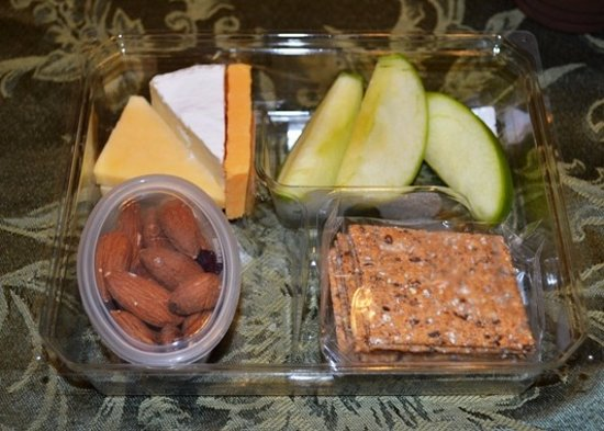 Terrell, TX: I get this Fruit and Cheese bistro box almost every day for breakfast.