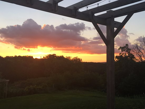 Mount Horeb, WI: View from the patio at sunset