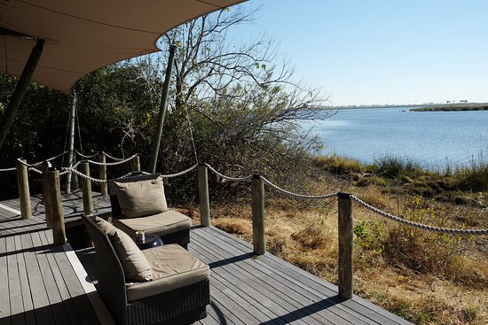 Linyanti Reserve, Botswana: View of the Lagoon from our Tent