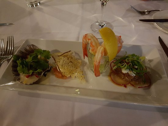 Mount Cotton, Australien: Four Tastes of the Sea - Tuna, Prawn, Scallop and Salmon