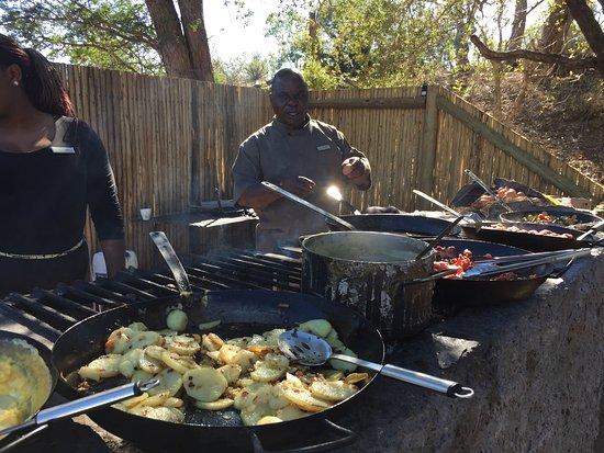 Timbavati Private Nature Reserve, Güney Afrika: Breakfast
