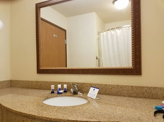 Best Western Legacy Inn & Suites Beloit/South Beloit: Bathroom to a King size room