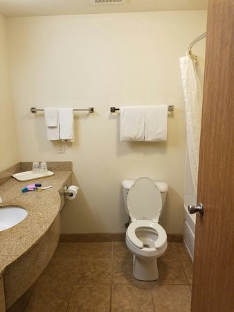 South Beloit, IL: Bathroom to a King size room