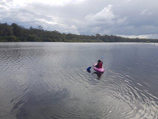 Canoeing in the Wooli Wooli River