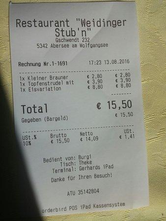 Restaurant Weidinger Stub'n: 20160813_172533_large.jpg