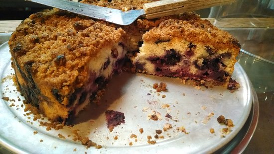 Lansing, Kuzey Carolina: Blueberry cake.