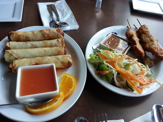 Sukho Thai: Spring Rolls and Satay
