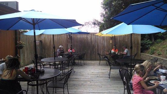 Quiet patio.