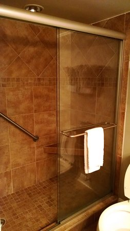 Oceanfront Litchfield Inn: Big shower.