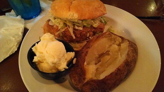Lenoir, NC: Chicken sandwich and potato were very good.