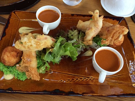 Lobster fish and chips
