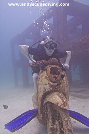 Andys Scuba Diving Phuket : A scooter ride at Racha Yai is just one perk of diving with Andy's!