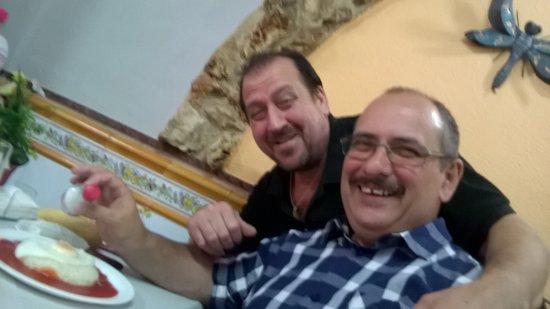 Alcoy, Hiszpania: Plat du jour arroz a la cubana