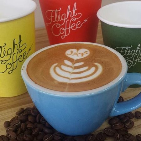 Marlborough Region, Nueva Zelanda: Flight coffee