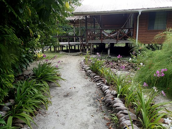 Uepi, Wyspy Salomona: path to our bungalow