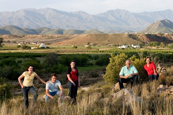The Nel Family of Boplaas with Calitzdorp in the background