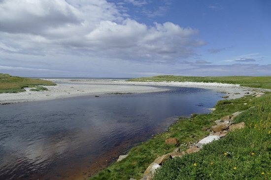 The Rowan Tree: Small senic river flowing out to the Atlantic