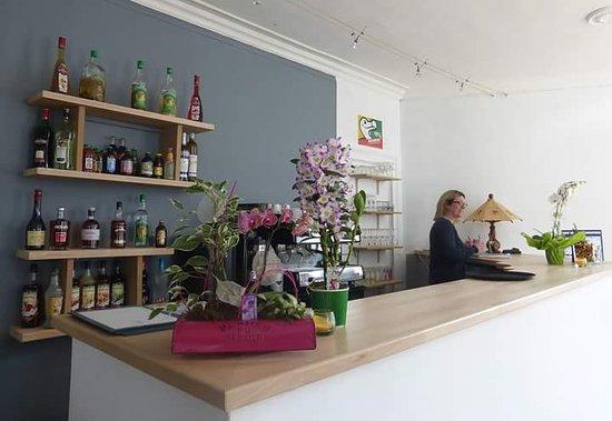 Eure, France : L'accueil du restaurant