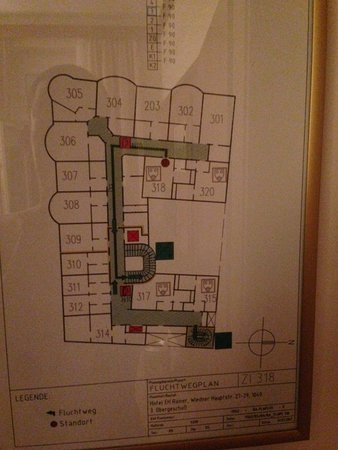 Hotel Erzherzog Rainer: план этажа