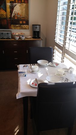 Eagle Heights, Australia: Guest breakfast area. or if you have takeaway. Plentyful