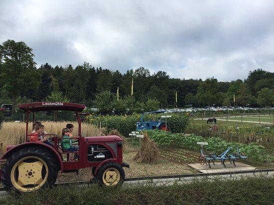 Wehrheim, เยอรมนี: Traktor fahren durch den Garten