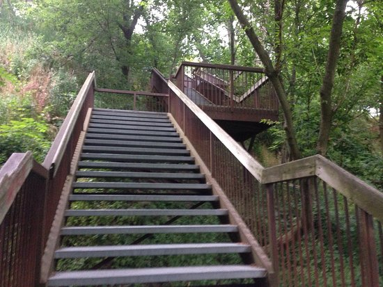 Bowmanville, Canadá: Rotary Park with stairs to river and walkways