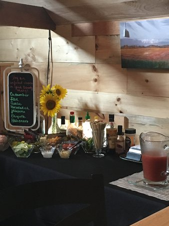 Sarona, WI: Bloody mary bar