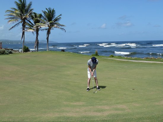 Mount Irvine, Tobago: 3rd green of Plantations GC