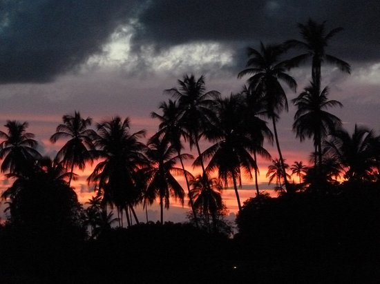Mount Irvine, Tobago: Sunset from terrace