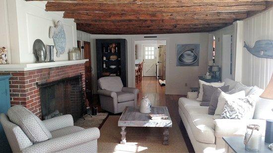 Bourne, MA: Living room, antique home, circa 1691