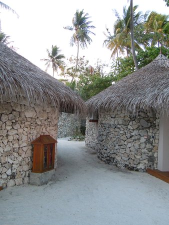 VOI Dhiggiri Resort: a view between beach bungalows
