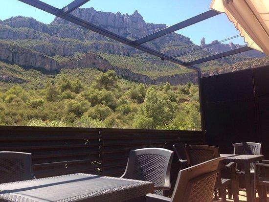 Pont del Gat Restaurant: Magnificas vistas desde la terraza para comer o hacer el café